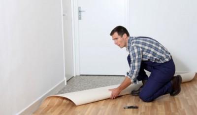 Instalação de piso emborrachado